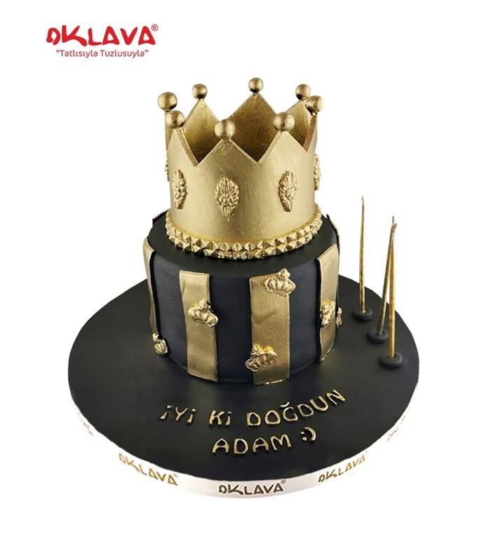 Taçlı Big Boss Doğum Günü Pastası | Oklava Pastanesi